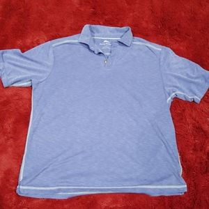 Tommy Bahama blue shirt sleeved top